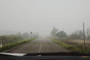 Nebbia in Sardegna